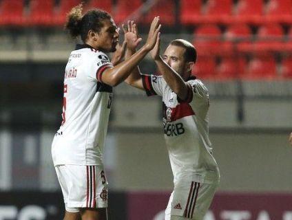 Em noite ruim da defesa, Flamengo empata com o La Calera no Chile (Crédito: Staff Images / CONMEBOL)