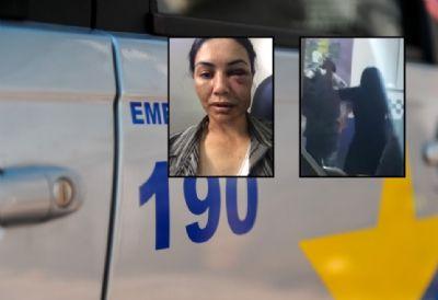 Na delegacia, mãe bate em filho que roubou, espancou e jogou motorista de aplicativo no rio